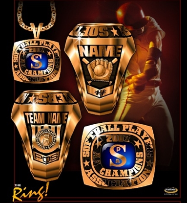 Picture of AA National Champion Ring/Pendant w/ Stadium Top - White Lustrium