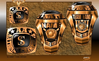 Picture of AA National Champion Ring/Pendant w/ SPA Encr - Suncast