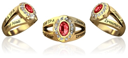 Picture of Women's Spring National Ring - Style 606