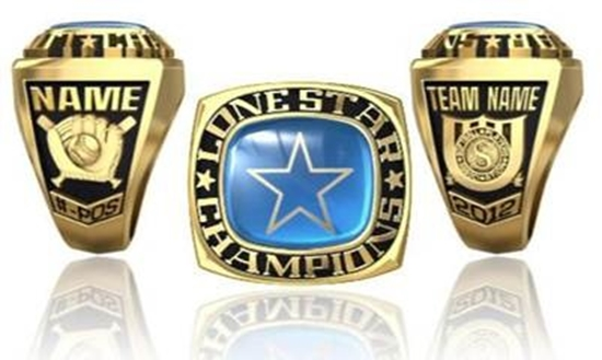 Picture of Lone Star NIT Ring or Pendant w/Encrusted Star
