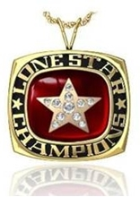 Picture of Lone Star NIT Pendant w/Star Crest & Cubic Zircs