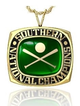 Picture of Southern NIT Pendant w/Encrusted Crossed Bats and Ball