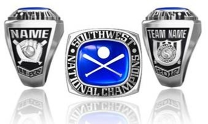 Picture of Southwest Nationals Ring or Pendant w/Encrusted Crossed Bats and Ball