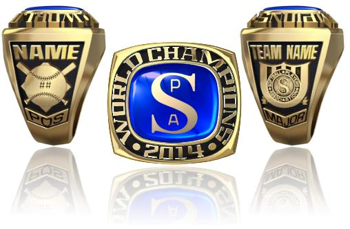 Softball Players Association World Champion Ring Or