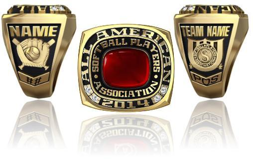 Softball Players Association All American Ring Or Pendant