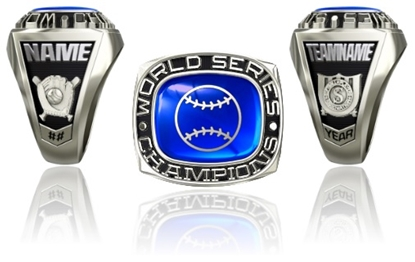 Picture of Women's World Series Champion Ring or Pendant w/Encrusted Ball