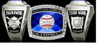 Picture of Western National Ring or Pendant w/Softball Crest and Cubic Zircs