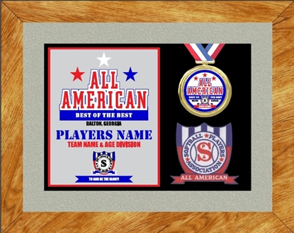 Picture of All American Custom Frame Award