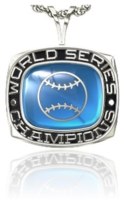 Picture of Women's World Series Champion Pendant w/Encrusted Ball