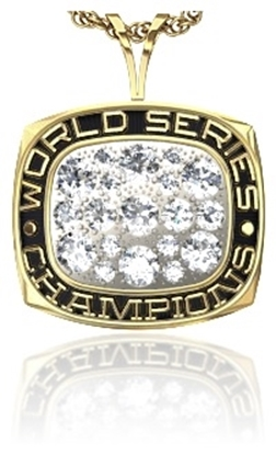 Picture of Women's World Series Champion Pendant w/Cubic Zircs