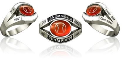 Picture of Women's Senior World Champion Ring Style 753 w/Softball