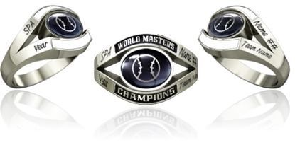 Picture of Women's Master's World Champion Ring Style 752 w/Softball