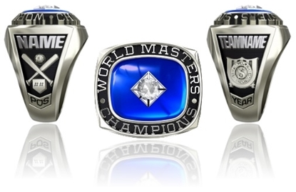 Picture of Women's Master's World Champion Ring or Pendant w/25pt Cubic Zirconia Tubeset