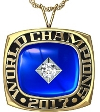 Picture of World Champion Pendant w/ 25pt Cubic Zirconia Tubeset